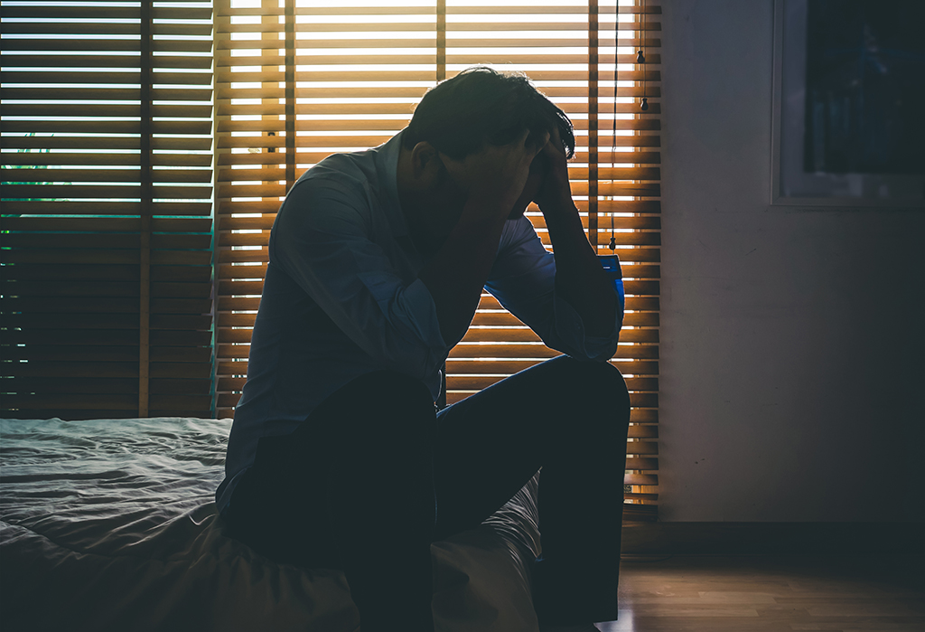 man with ptsd anxiety depression